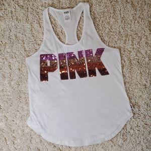 PINK VS Sequin Racerback Tank